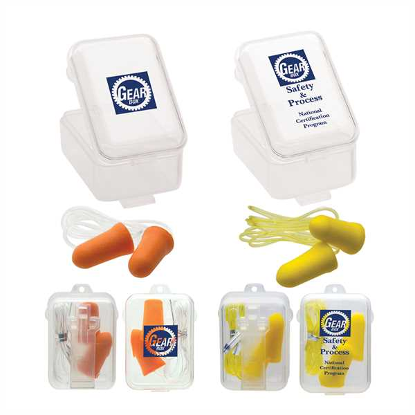 Polyurethane foam earplugs, available
