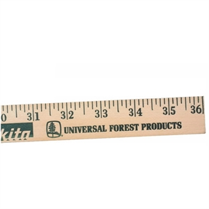 Natural finish yardstick with