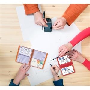 Mini card file holds