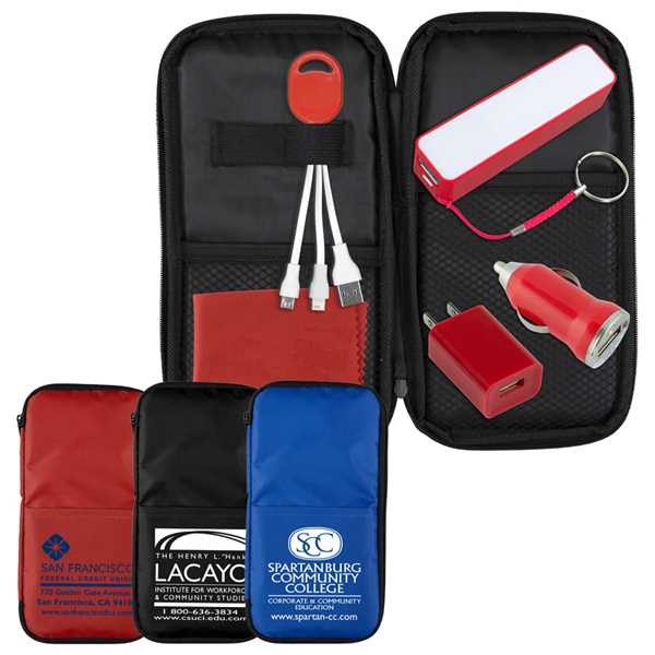 Travel kit with chargers