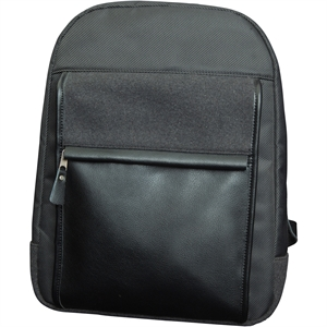 Grey leather backpack with
