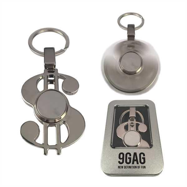Fidget Spinner Keychain