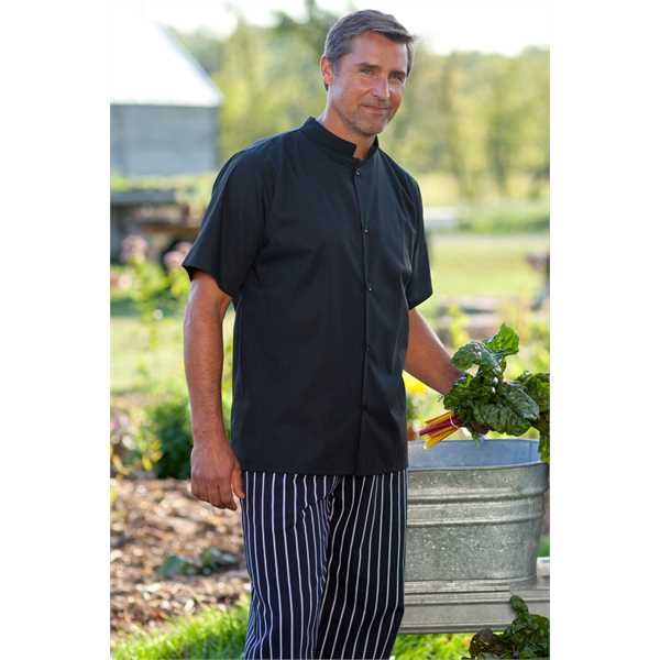 Utility shirt with mandarin