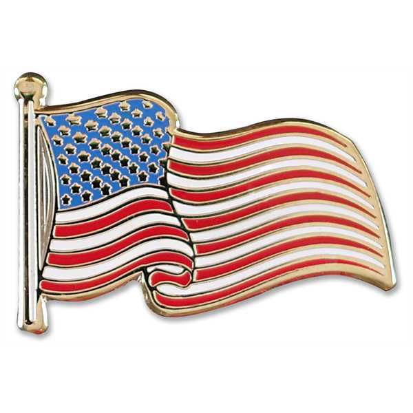 USA Flag Hard Enamel