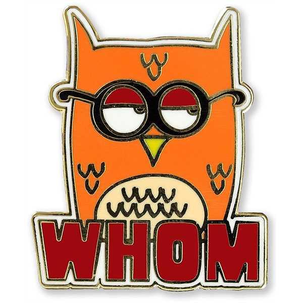Whom Owl Enamel Pin.