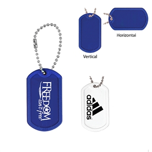 Durable plastic dog tag