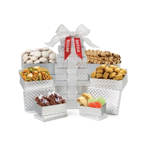 Gift tower filled with