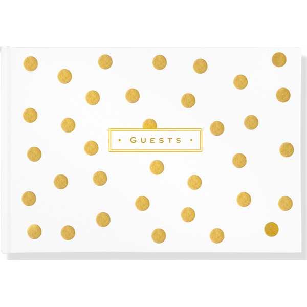 Gold Dots Guest Book.