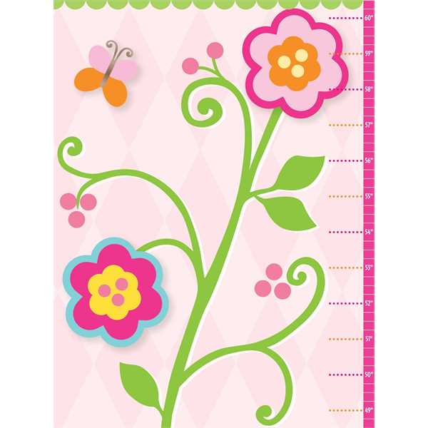 Flowers growth chart with