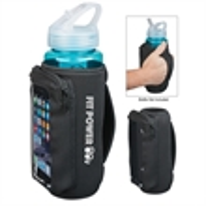 Bottle holder/cooler with phone