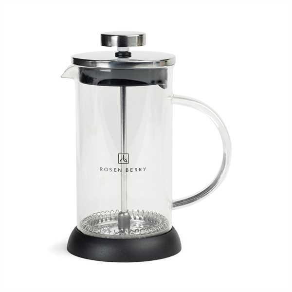 Glass coffee press that