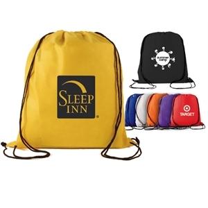 Non-woven polypropylene drawstring backpack.