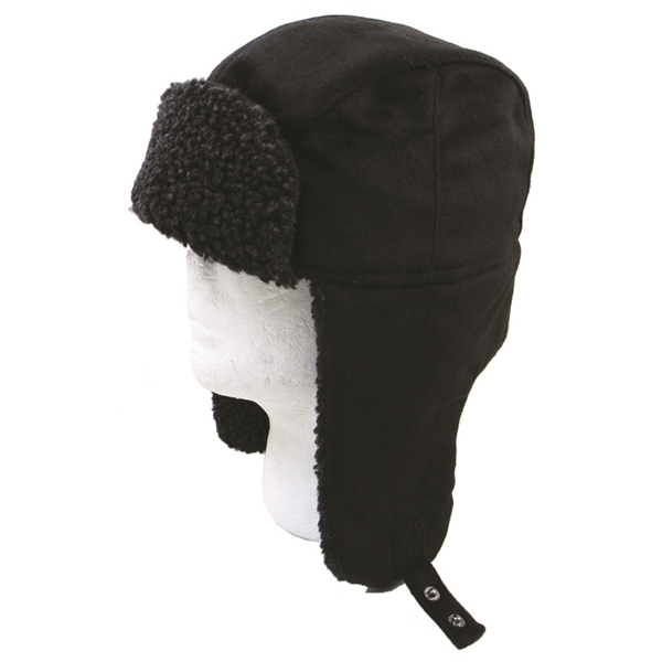 Winter hat with earflaps.