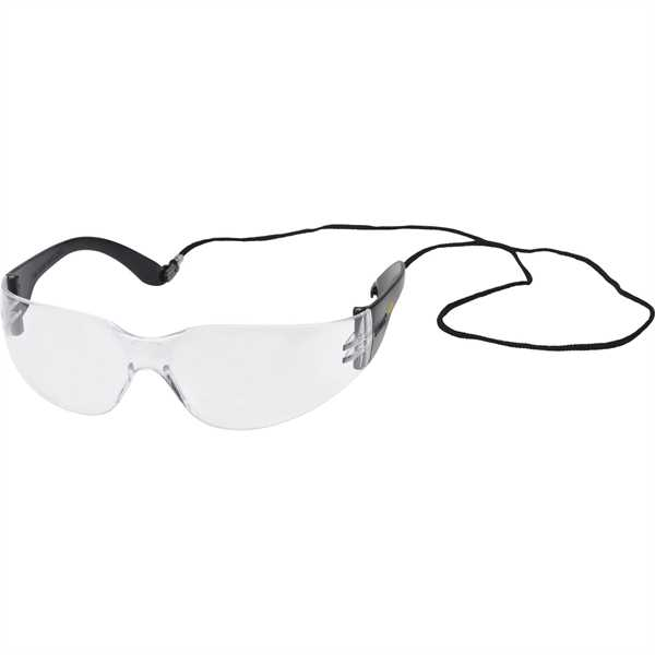 Safety glasses with lanyard.