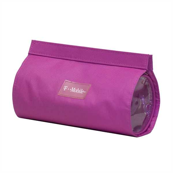 Pink pouch features outer
