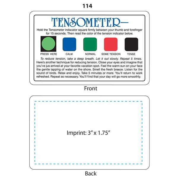 Tensometer™ - Tension indicator.