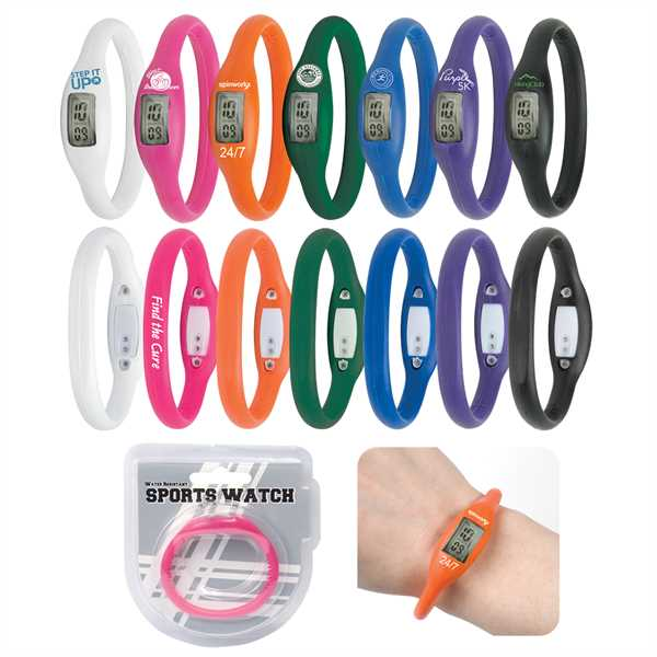 Water-resistant sports watch made
