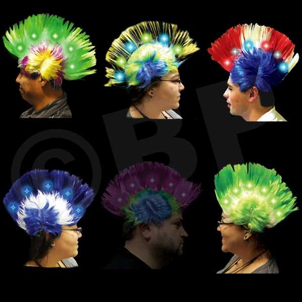 Mohawk costume wig with