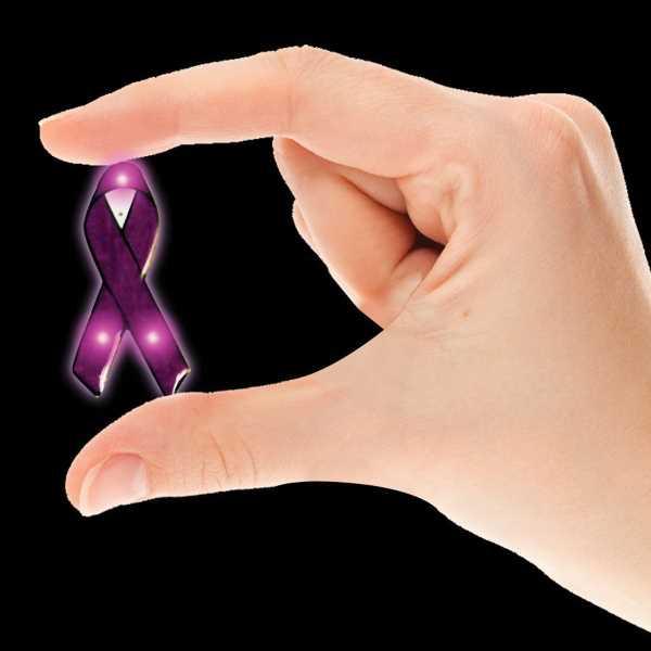 Blinky - Purple ribbon