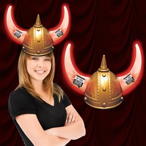 LED light-up Viking helmet;