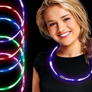 Neon necklace made of