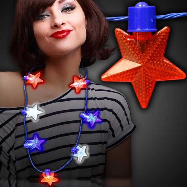 LED lighted star necklace
