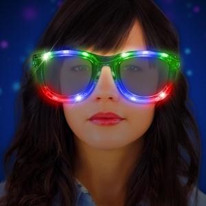 Clear plastic oversized glasses