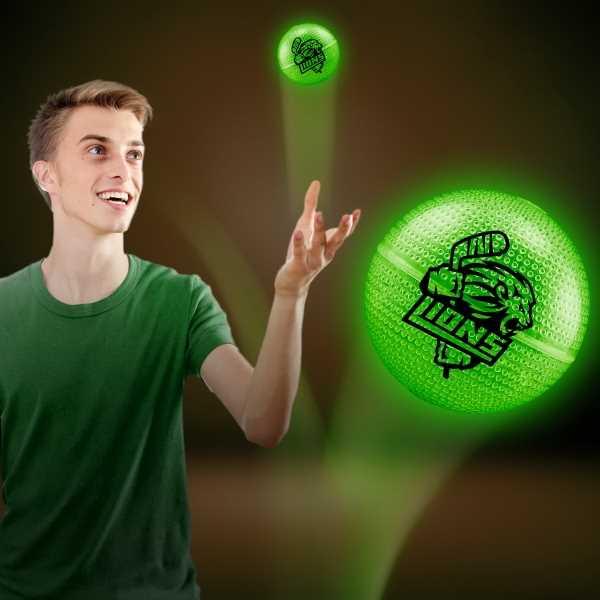 Glowing green bouncy ball
