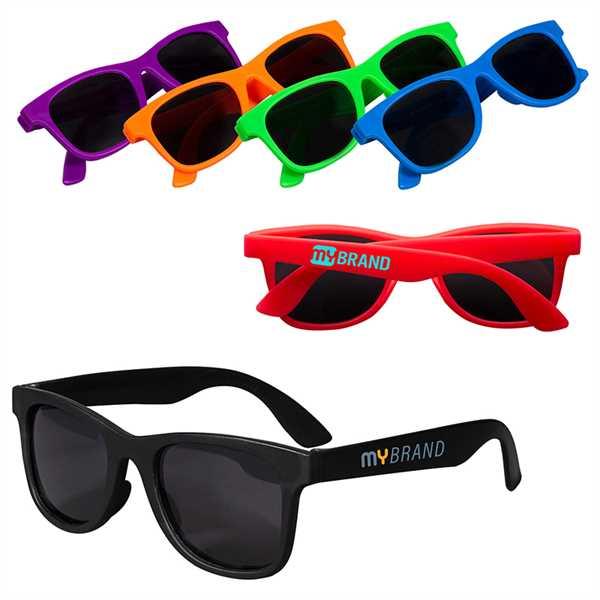 Youth-sized single-tone matte sunglasses;