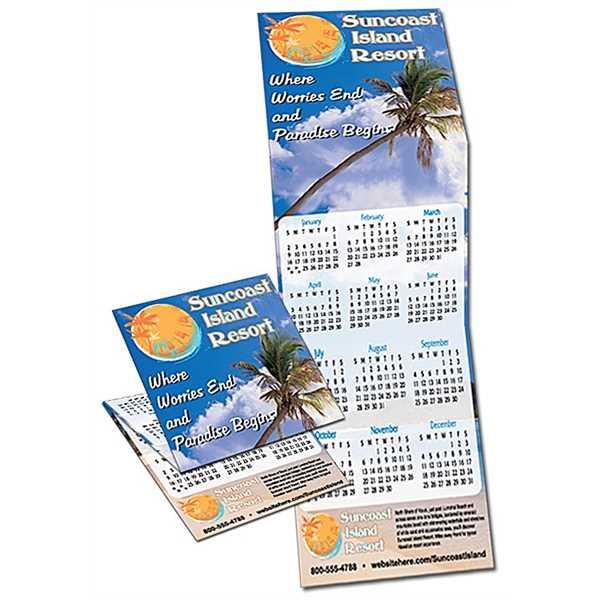 Tri-Fold Calendar - 5.3x17