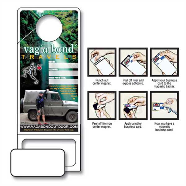 Doorhanger w/Punch-Out Magnet -