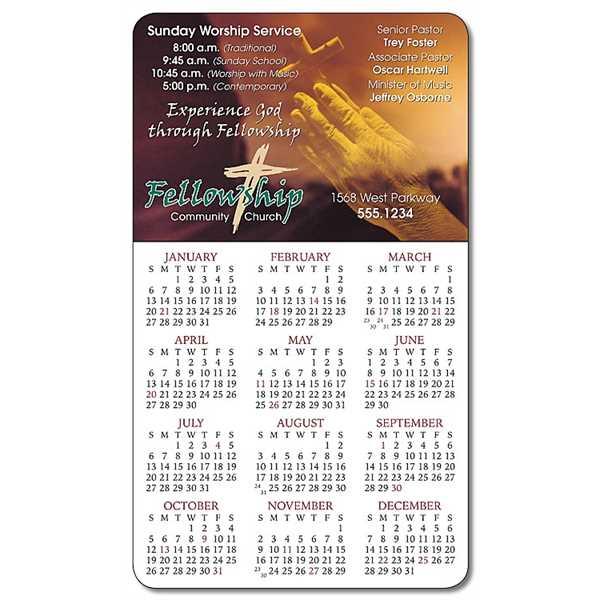 Religious Calendar Magnet -