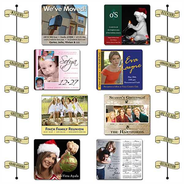 Announcement Calendar Magnet -