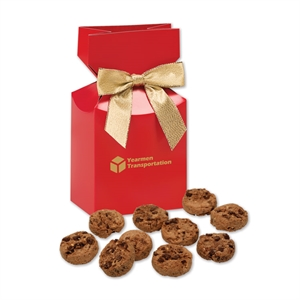 red gift box filled