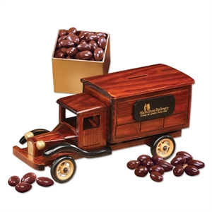 wooden collectible delivery truck