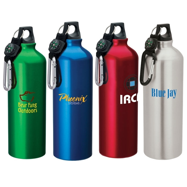 1-liter flask with carabiner,