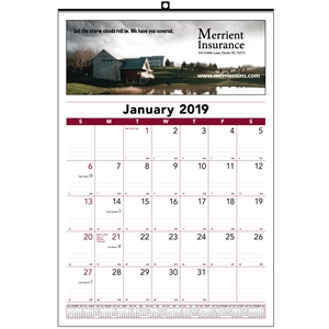 12-month commercial wall calendar