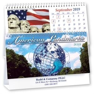Spiral bound desk calendar,