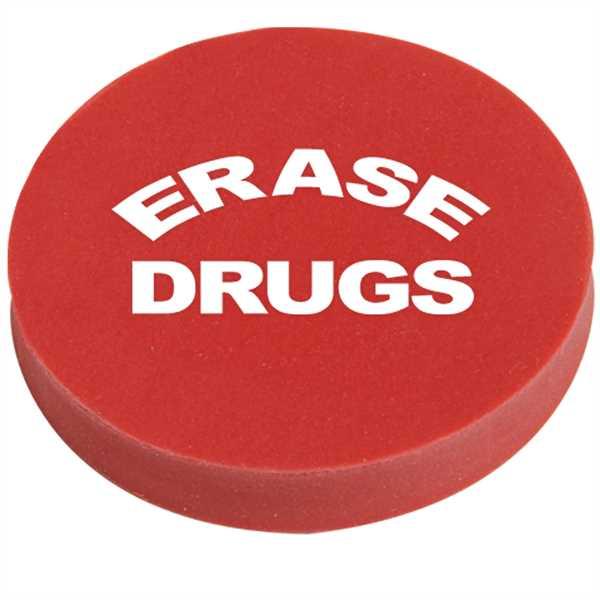 Round eraser made of