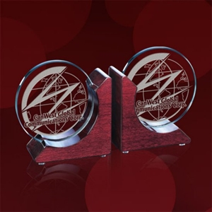 Promotional Book Ends-AWARD DSK120