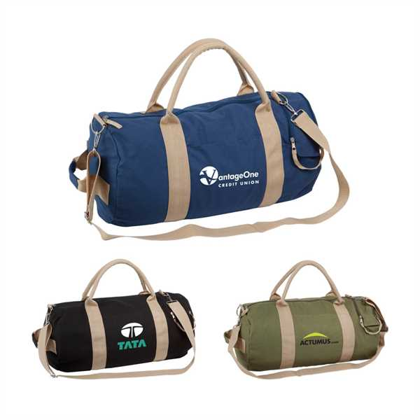 100% cotton canvas duffel
