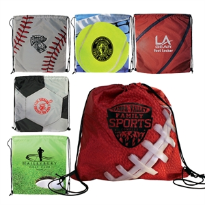 Sports style drawstring backpack.