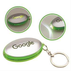 Plastic key chain with