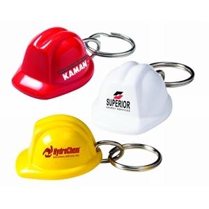 Keychain with hard hat