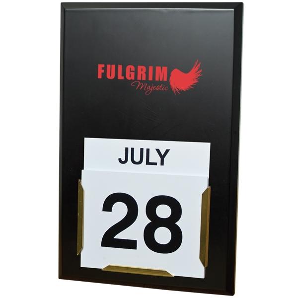 Daily date wall calendar