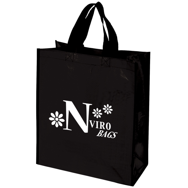 Woven tote bag with