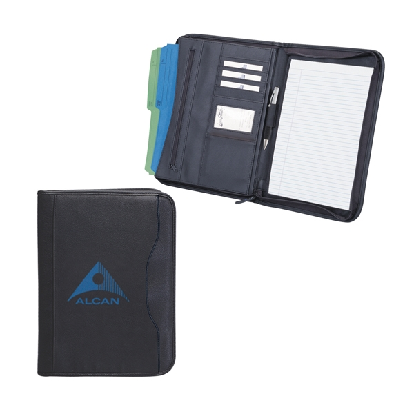 Zippered notepad portfolio, koskin