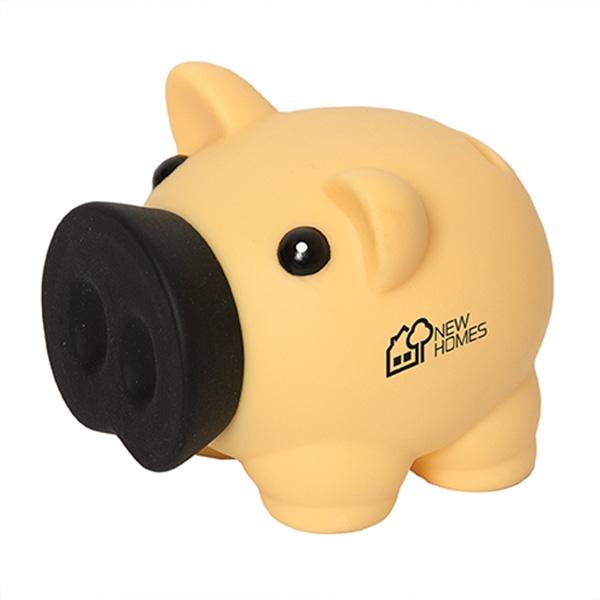 Plastic funny money piggy