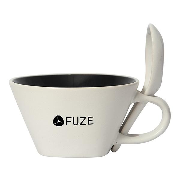 Stoneware soup mug