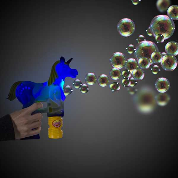Unicorn shaped bubble gun